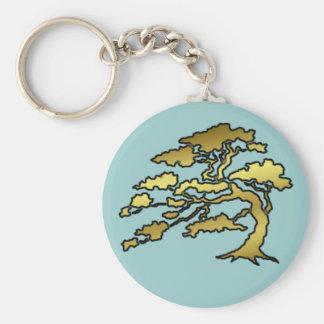 Árbol oriental llavero redondo tipo pin