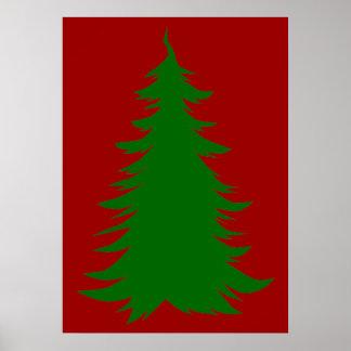 Árbol para el navidad póster