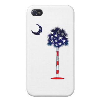 Árbol patriótico del Palmetto iPhone 4 Protectores
