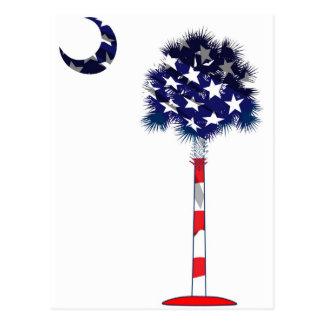 Árbol patriótico del Palmetto Tarjetas Postales