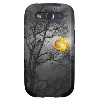 Árbol por completo de cuervos con una Luna Llena Samsung Galaxy SIII Funda