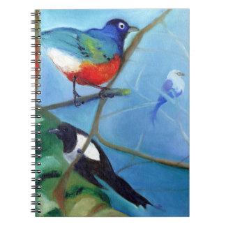 Árbol por completo de los pájaros 2012 note book