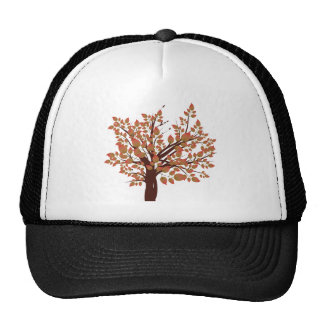 Árbol precioso del otoño gorras