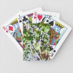 árbol púrpura de la flor contra el extracto del ci cartas de juego