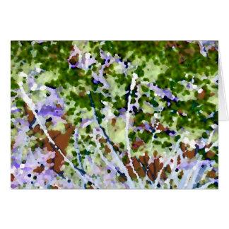 árbol púrpura de la flor contra el extracto del ci felicitaciones