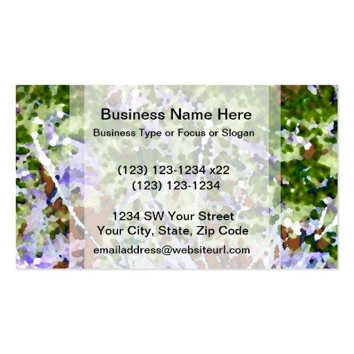 árbol púrpura de la flor contra el extracto del ci tarjetas de visita