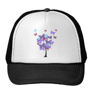 Árbol púrpura de la mariposa gorro de camionero