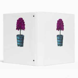 Árbol púrpura en imagen azul del cubo