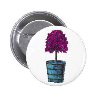 Árbol púrpura en imagen azul del cubo pins
