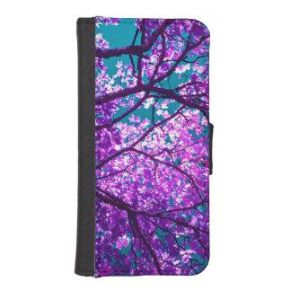 árbol púrpura II Fundas Cartera Para Teléfono