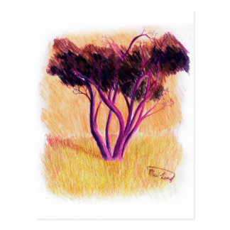 Árbol púrpura postal