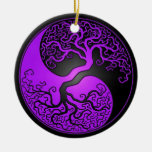 Árbol púrpura y negro de Yin Yang Adorno Para Reyes