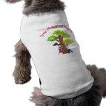 Árbol que abraza al vegano camisas de mascota