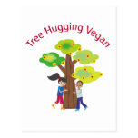 Árbol que abraza al vegano tarjeta postal