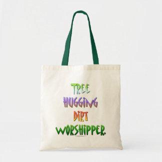 Árbol que abraza al Worshipper. de la suciedad Bolsa Tela Barata