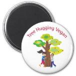 Árbol que abraza el swag del vegano imán de frigorífico
