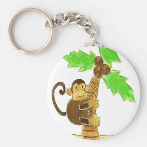 árbol que sube del mono llaveros personalizados