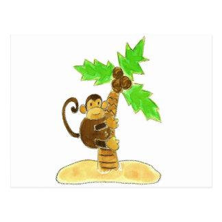 árbol que sube del mono postales
