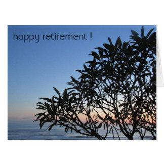 árbol reservado de la silueta grande tarjeta de felicitación grande