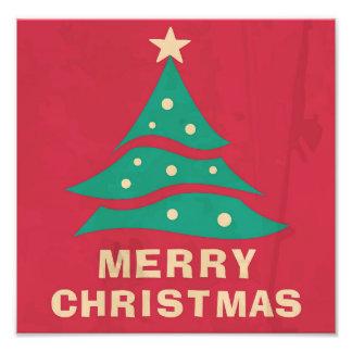 Árbol retro de las Felices Navidad Cojinete