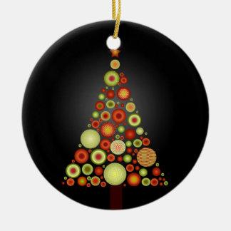 Árbol retro de los ornamentos del navidad de PixDe Adorno Para Reyes