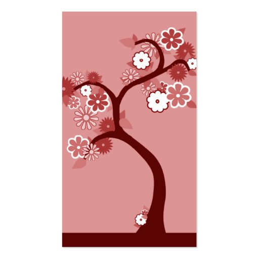 árbol retro del oddRex Tarjetas De Visita