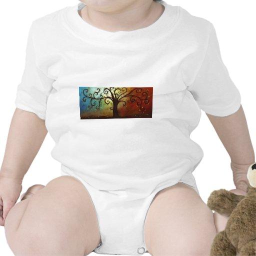Árbol rizado caprichoso trajes de bebé