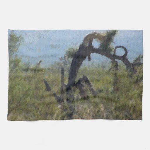 Árbol rizado del desierto toallas