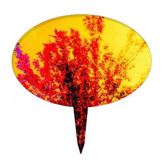 Árbol rojo decoraciones para tartas