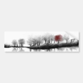 Árbol rojo pegatina para auto