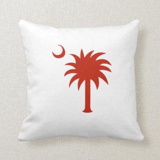 Árbol rojo del Palmetto de Carolina del Sur Cojín