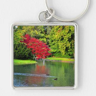 Árbol rojo llaveros personalizados