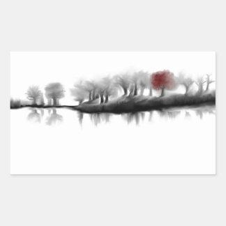 Árbol rojo pegatinas