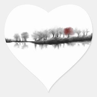 Árbol rojo calcomania corazon personalizadas