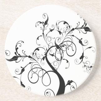 Árbol romántico de Swirly Posavasos Manualidades