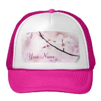 Árbol rosado blanco hermoso de la sol de las flore gorro de camionero
