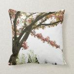 Árbol rosado de la flor de cerezo del vintage almohadas