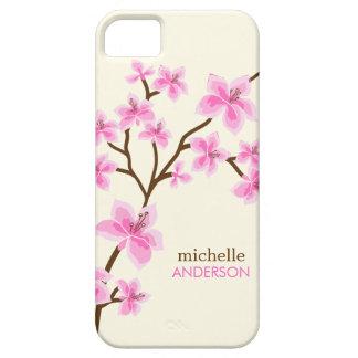 Árbol rosado de las flores de cerezo iPhone 5 Case-Mate funda
