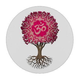 Árbol rosado de OM de la yoga de la vida Juego De Fichas De Póquer