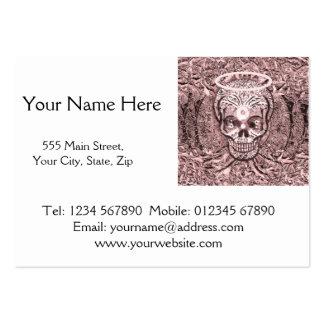 Árbol rosado del cráneo de la vida con los ojos de tarjetas de visita grandes