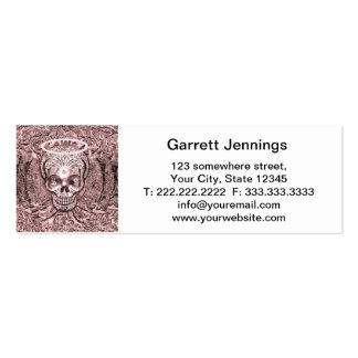 Árbol rosado del cráneo de la vida con los ojos de tarjetas de visita mini