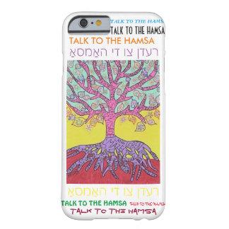 árbol rosado jídish del caso del iPhone 6 de la Funda De iPhone 6 Barely There