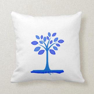 árbol simple azul design.png cojín
