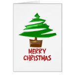 Árbol simple de las Felices Navidad Felicitación