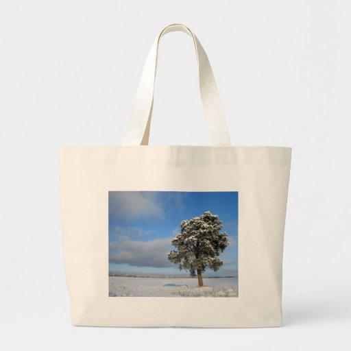 Árbol solitario de congelación bolsa de tela grande