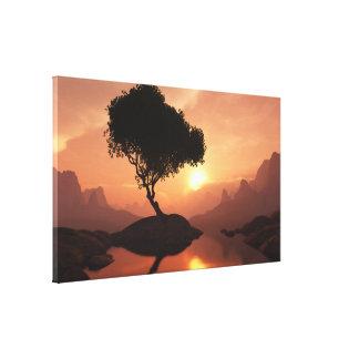 Árbol solitario impresión de lienzo