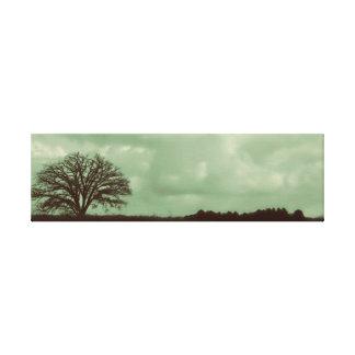 Árbol solo impresión en lona