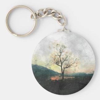 Árbol solo llavero redondo tipo pin