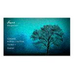 Árbol solo tarjeta de negocio