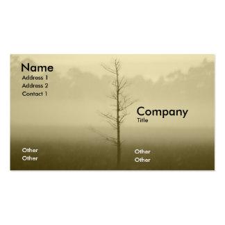 Árbol solo tarjetas de visita